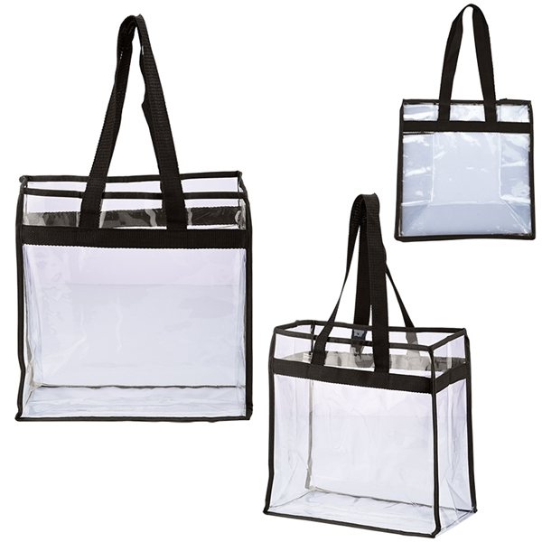 Promotional PVC Custom Game Day All Access Stadium Tote - 12 X 12