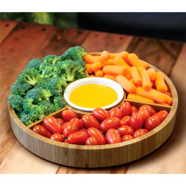 Promotional Gourmet Bamboo 2- Piece Serving Tray