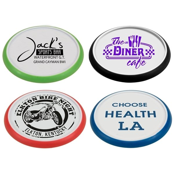 Promotional Plastic Grip Coaster