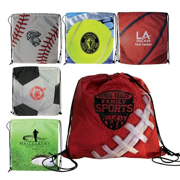 Promotional Sports Style Drawstring Backpack