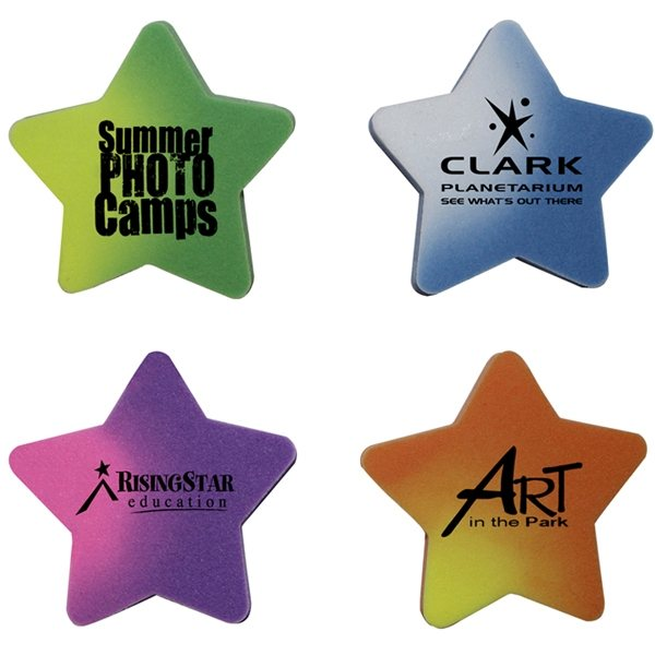 Promotional Mood Die Cut Eraser - Star