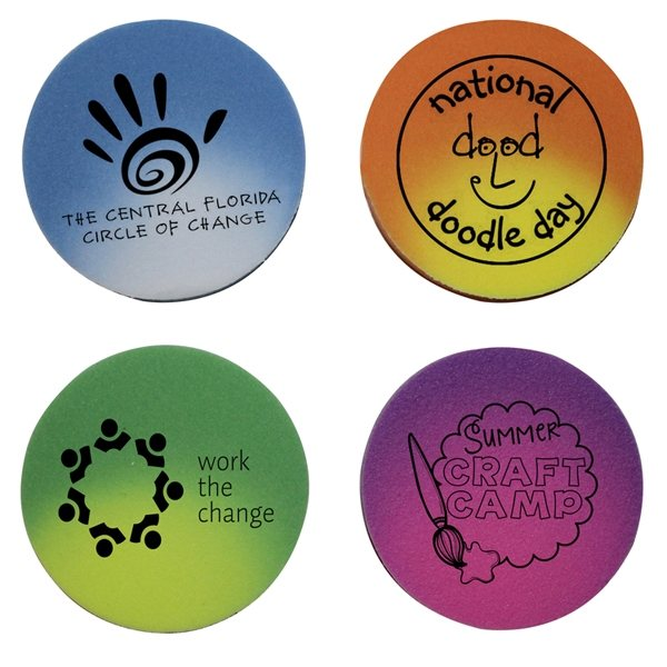 Promotional Mood Die Cut Eraser - Circle