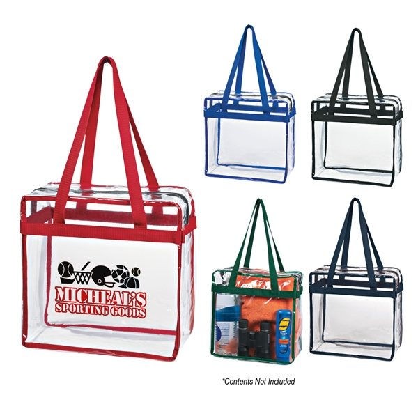 Promotional Clear Tote With Zipper