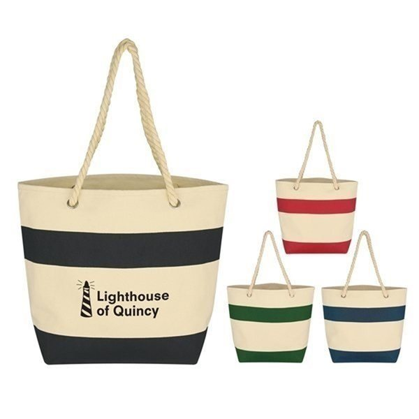 Promotional Cruising Tote With Rope Handles