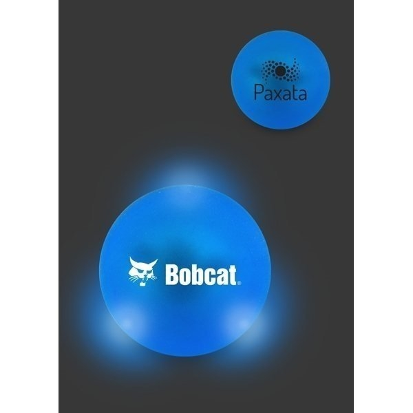 Promotional Frosted Light Bounce Ball - Blue Ball / White LED