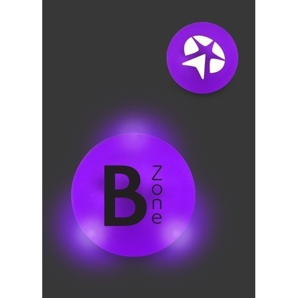Promotional Frosted Light Bounce Ball - Purple Ball / White LED