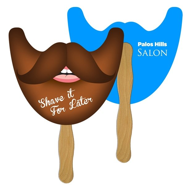 Promotional Beard on a Stick - Digitally Printed - Paper Products