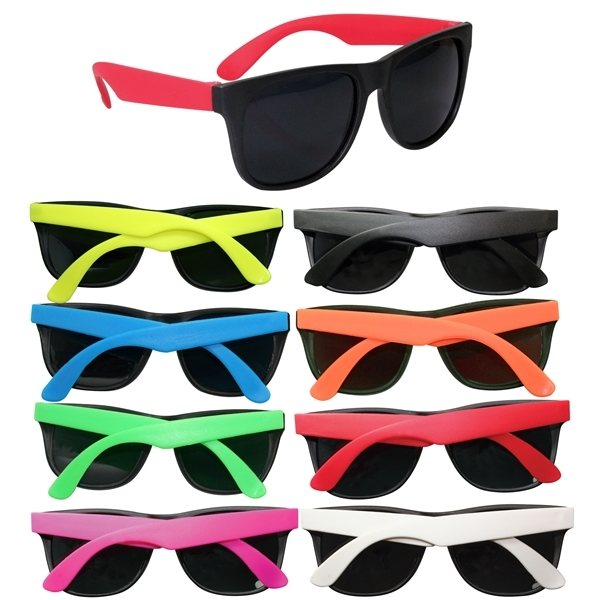 Promotional Two Tone Matte Sunglasses - Available In 8 Colors