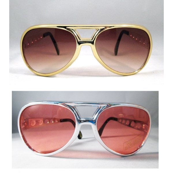 Promotional Sunglasses, Elvis Style With Metallic Frames