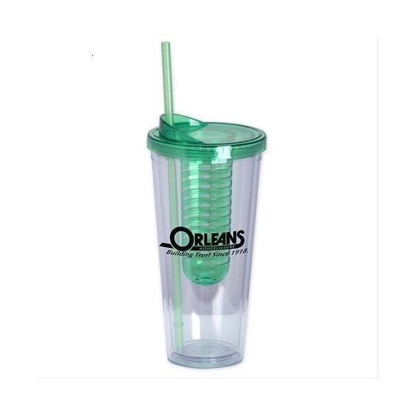 Promotional 22 oz double wall acrylic Infuse tumbler - Green
