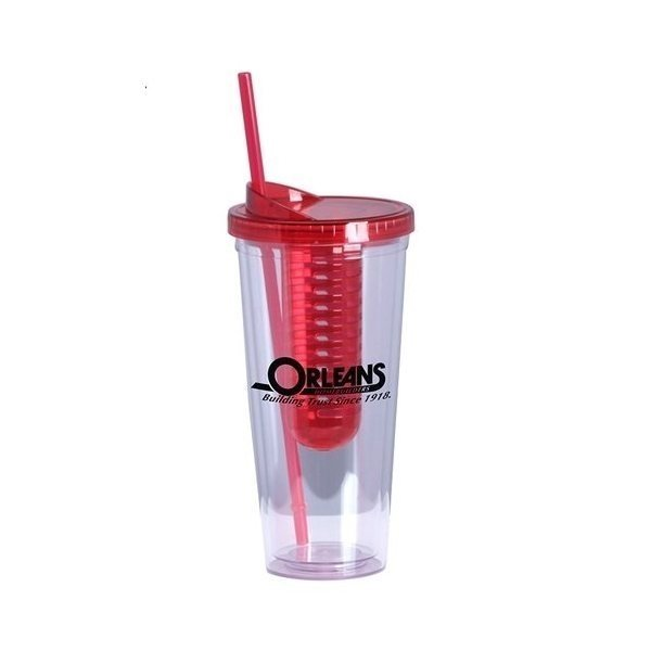 Promotional 22 oz double wall acrylic Infuse tumbler - Red