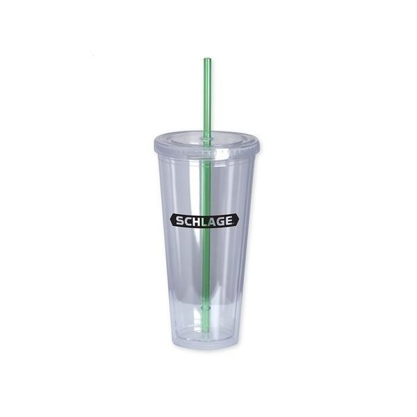 Promotional The Last Straw II 20 oz Double - Wall Acrylic Cup - Green