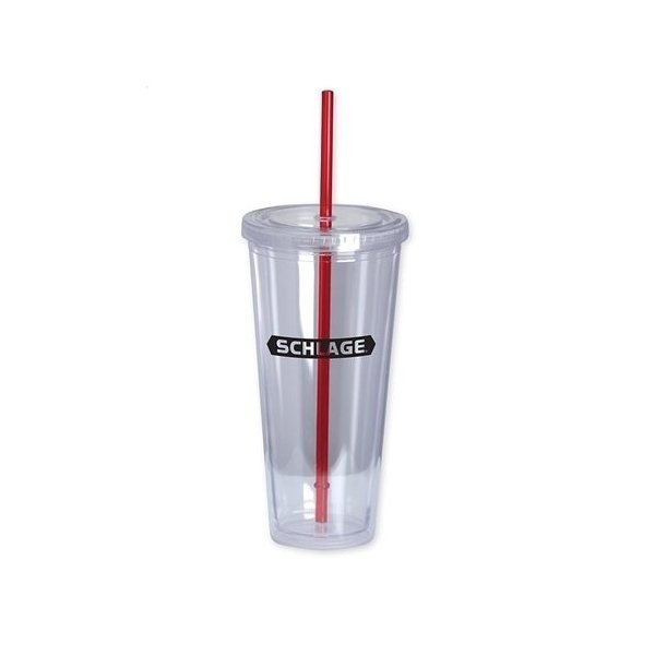 Promotional The Last Straw II 20 oz Double - Wall Acrylic Cup - Red