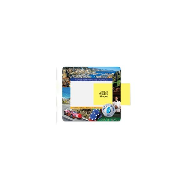 Promotional 1/16 DuraTec Base + Vynex Surface Frame - It(R) Window Mouse Pads, 1/16 x 8 x 9