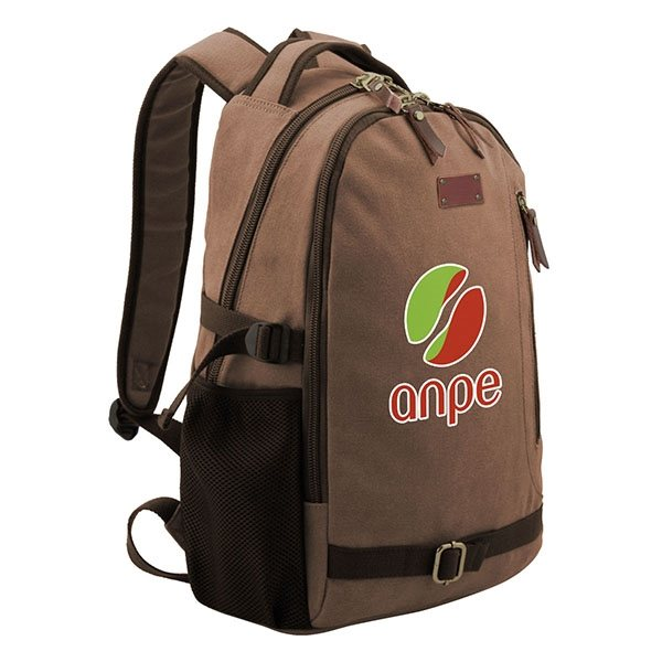 Promotional Java Cotton Canvas Backpack