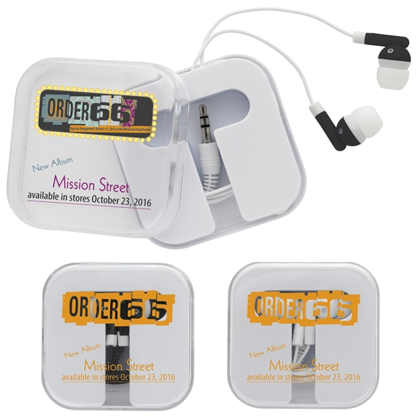Promotional Earbuds with Carry Case
