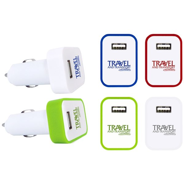 Promotional USB Car Charger with LED Light