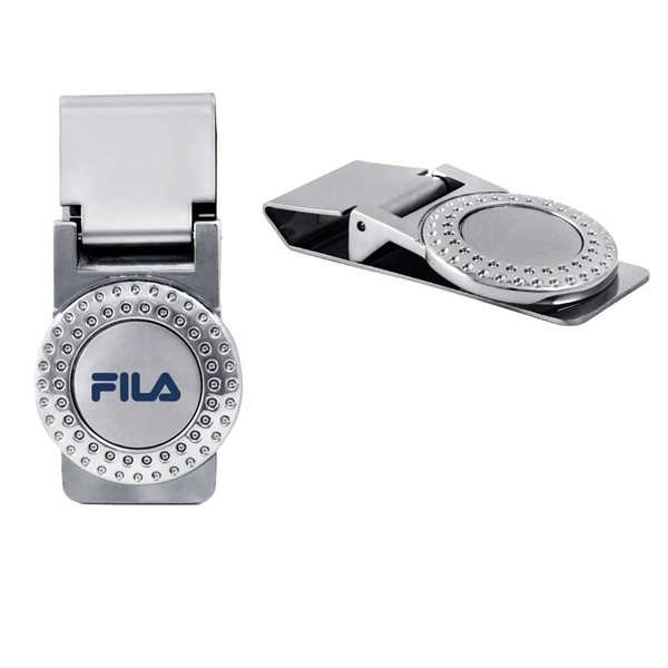 Promotional Silver Golf Money Clip
