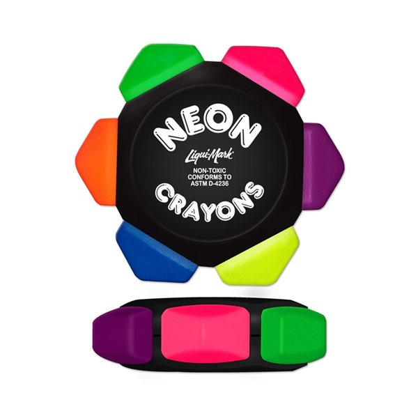 Promotional Neon Six Color Crayon Wheel