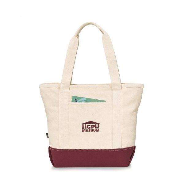 Promotional Newport Cotton Zippered Tote