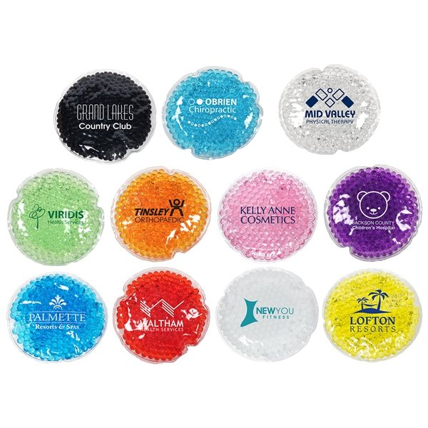 Promotional Round Aqua Pearls Hot / Cold Pack