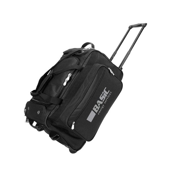 Promotional 600D Polyester Rolling Travel Bag 22 x 12 x 13