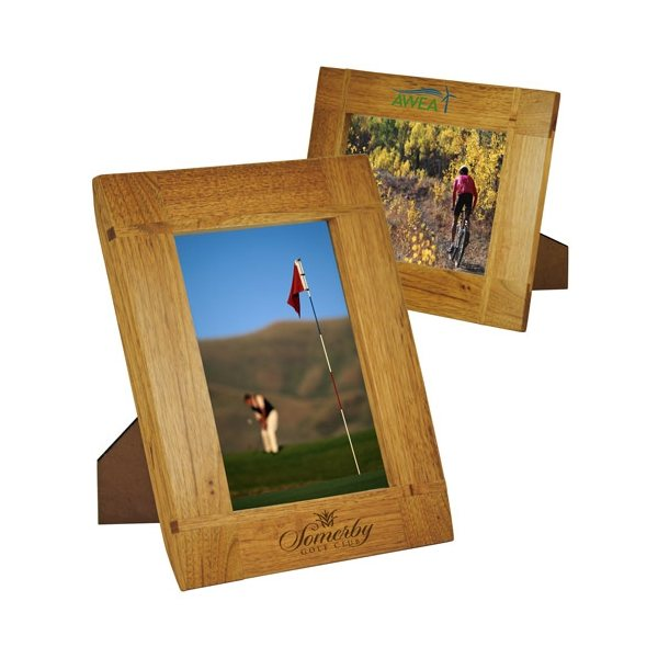 Promotional Curved Border Natural Wood Frame 5 x 7
