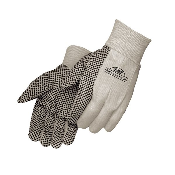 Promotional 8 oz Canvas Work Gloves with PVC Dots - Mens