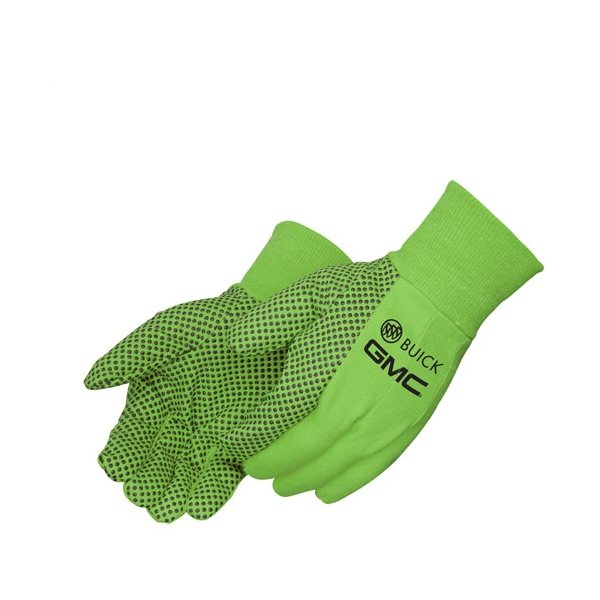 Promotional 10 oz Canvas Work Gloves w / PVC Dots - Mens