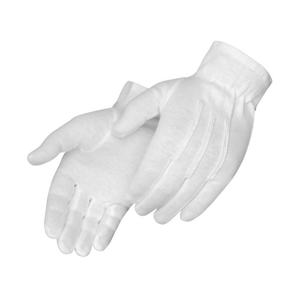 Promotional Formal White Dress Gloves, 100 Cotton with Snaps