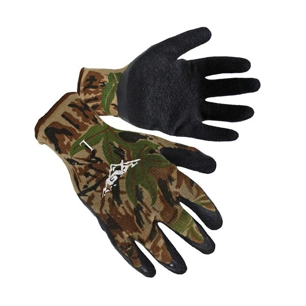 Promotional Camo Textured Latex Palm Coated Gloves