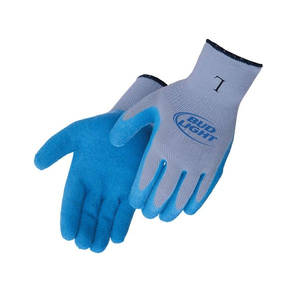 Promotional Blue Textured Latex Palm Coated Gloves
