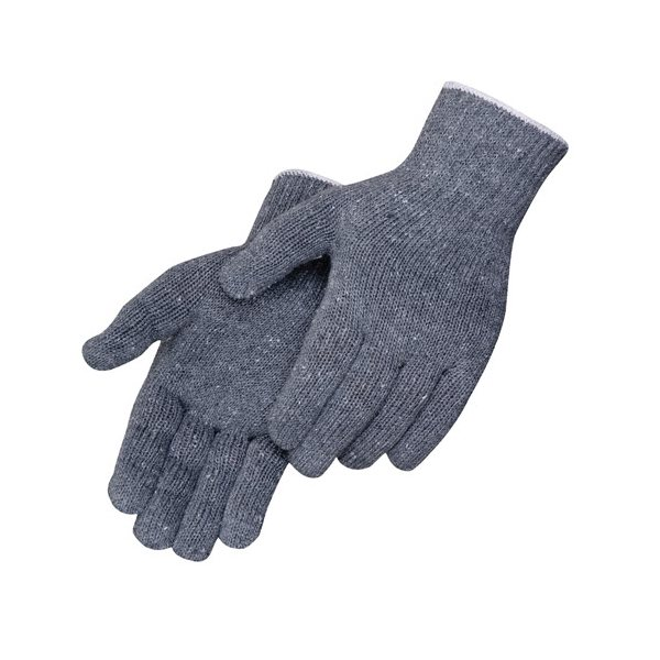 Promotional Gray Cotton / Polyester Blend Work Gloves