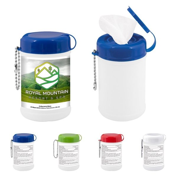 Promotional Mini Canister Of Wet Wipes