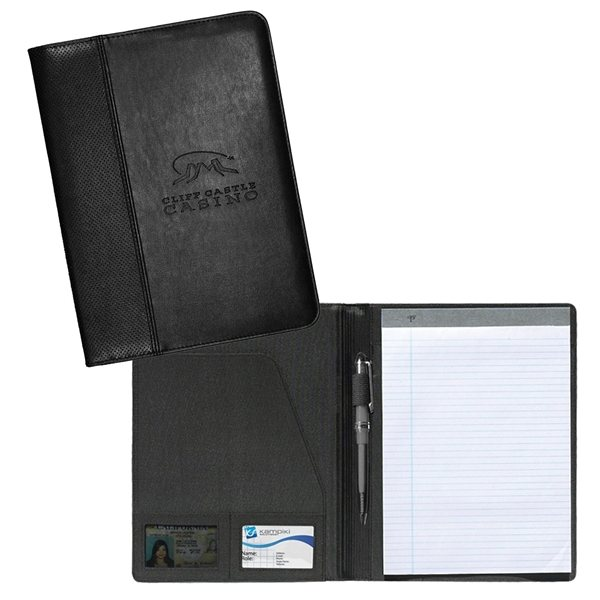 Promotional Camelot Perforated PVC Standard Size Padfolio