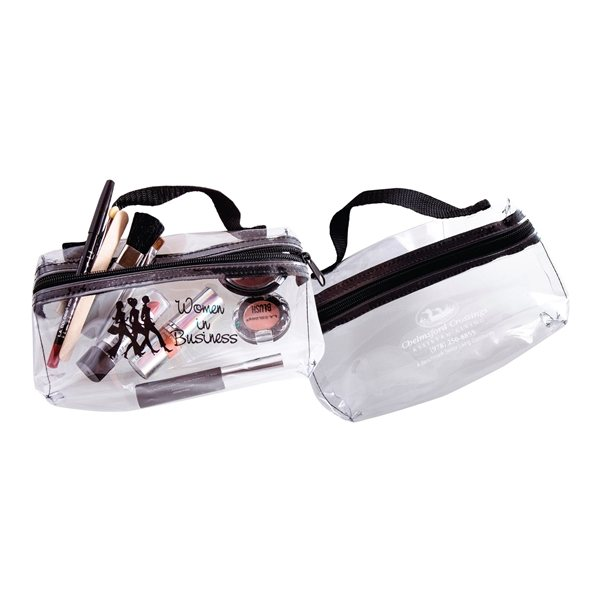 Promotional Handle With Clear Cosmetic Bag