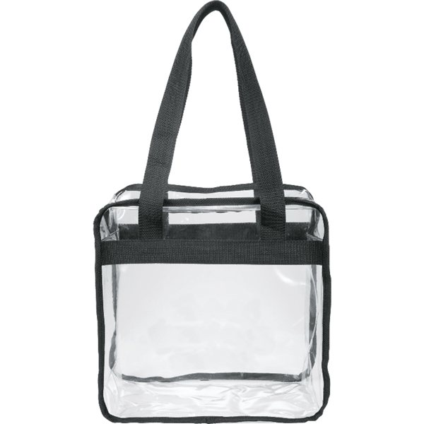 Promotional Game Day Clear Zippered Safety Tote
