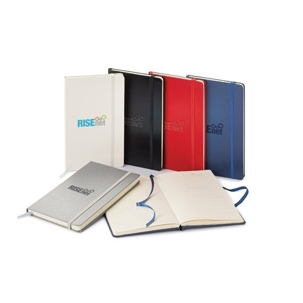 Promotional Classico Metallic Hard Cover Journal 5 1/8 x 8 1/4