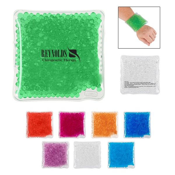 Promotional Square Gel Beads Hot / Cold Pack