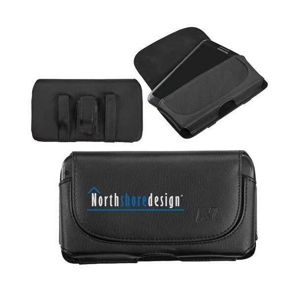 Promotional Premium Horizontal Cellphone Pouch with Belt Loops Clip