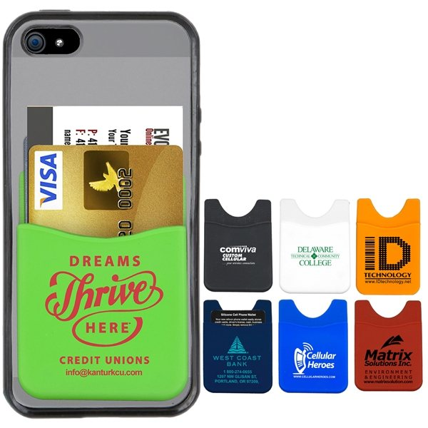 Promotional Soft Silicone Cell Phone Wallet