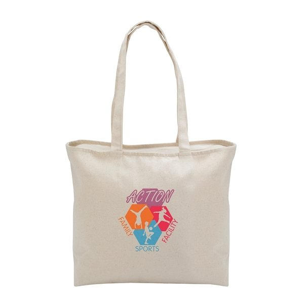 Promotional GoodValue Cotton Simply Zip Tote