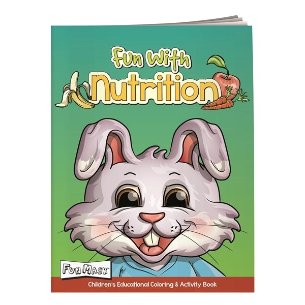 Promotional Coloring Book with Mask Fun With Nutrition