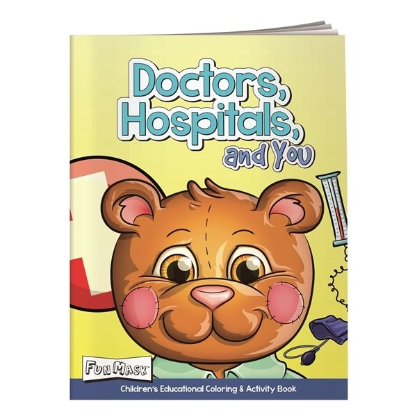 Promotional Coloring Book with Mask Doctors, Hospital, and Yo