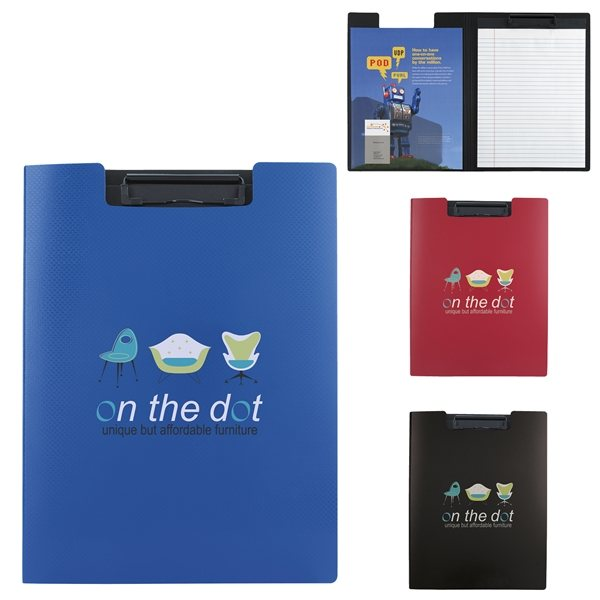 Promotional Textured Polypropylene Cliboard Folder 9-1/2w x 12-5/8h x 5/8d