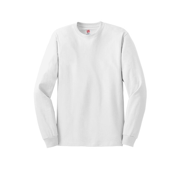 Promotional Hanes(R) - Tagless(R) 100 Cotton Long Sleeve T - Shirt - 5586 - NEUTRALS