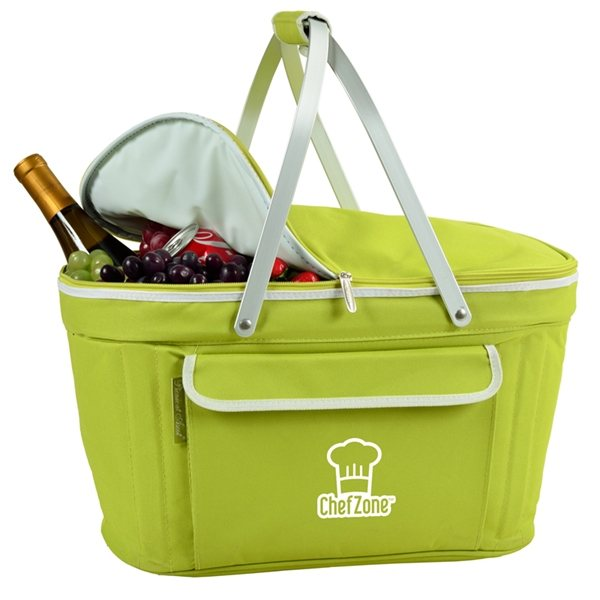 Promotional Collapsible Insulated Basket Cooler (Apple Green)