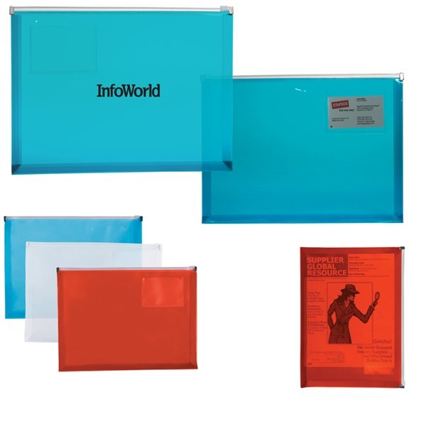 Promotional PP Zip Closure Envelope with Business Card Slot