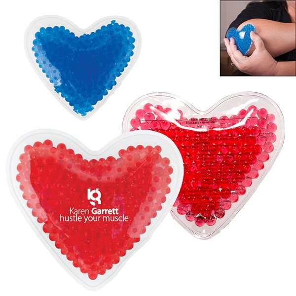 Promotional Hot / Cold Gel Pack - Heart