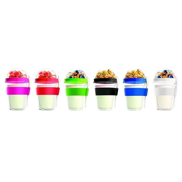 Promotional Yogurt 2 Go Double Wall Container